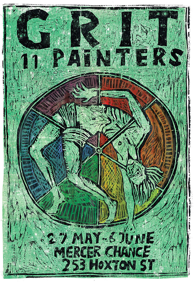 'Grit: 11 Painters' Poster by Ben Westley Clarke x Rebecca and Mike